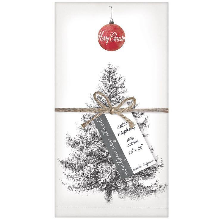 Montgomery Street Christmas Tree Cotton Napkins, Set of 4