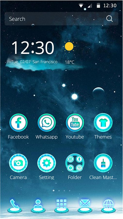 I love this launcher theme as much I love galaxy!