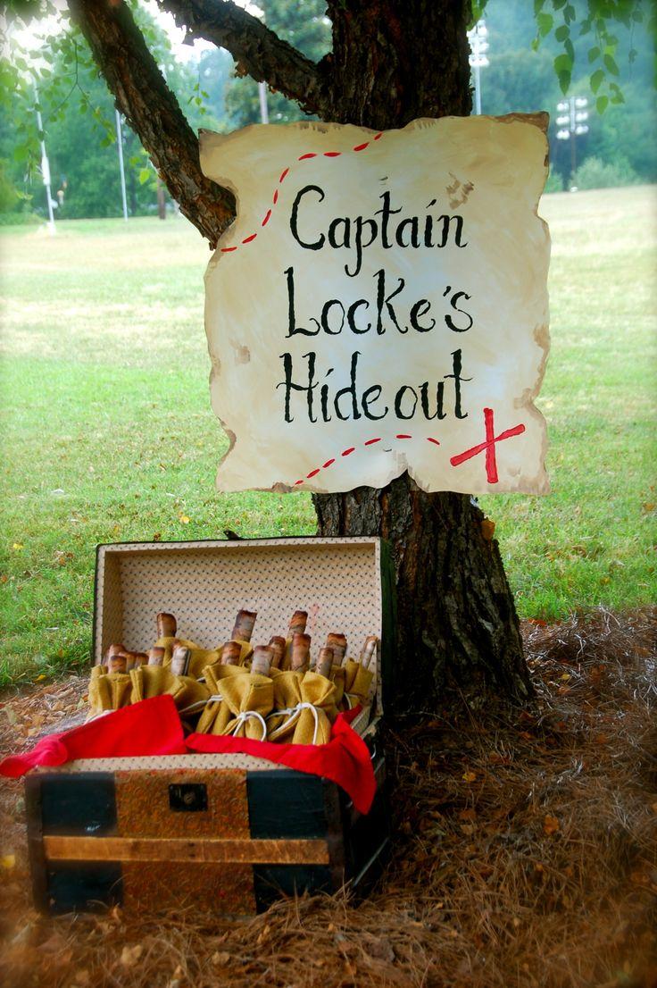 "this gave me an idea....make a treasure map to buried ""treasure"""