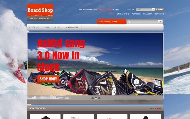 Boardshop ηλεκτρονικό κατάστημα από την Websitepro