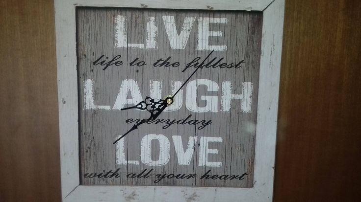 """Wall Clock Wood Picture Subject: (Live / Laugh / Love) Decoration Apartment 30X30 11,8""""X 11,8"""" by AlternativeByGeorge on Etsy"""