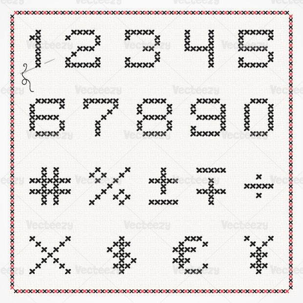 Cross-stitch-numbers useful to have ;)