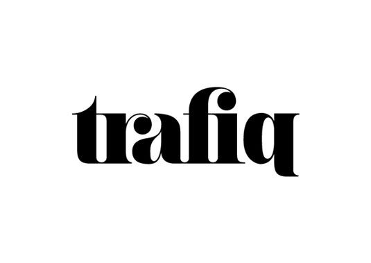 beautiful use of classic ligatures here the 'r' and 'f' in the logo complete the letter next to them.