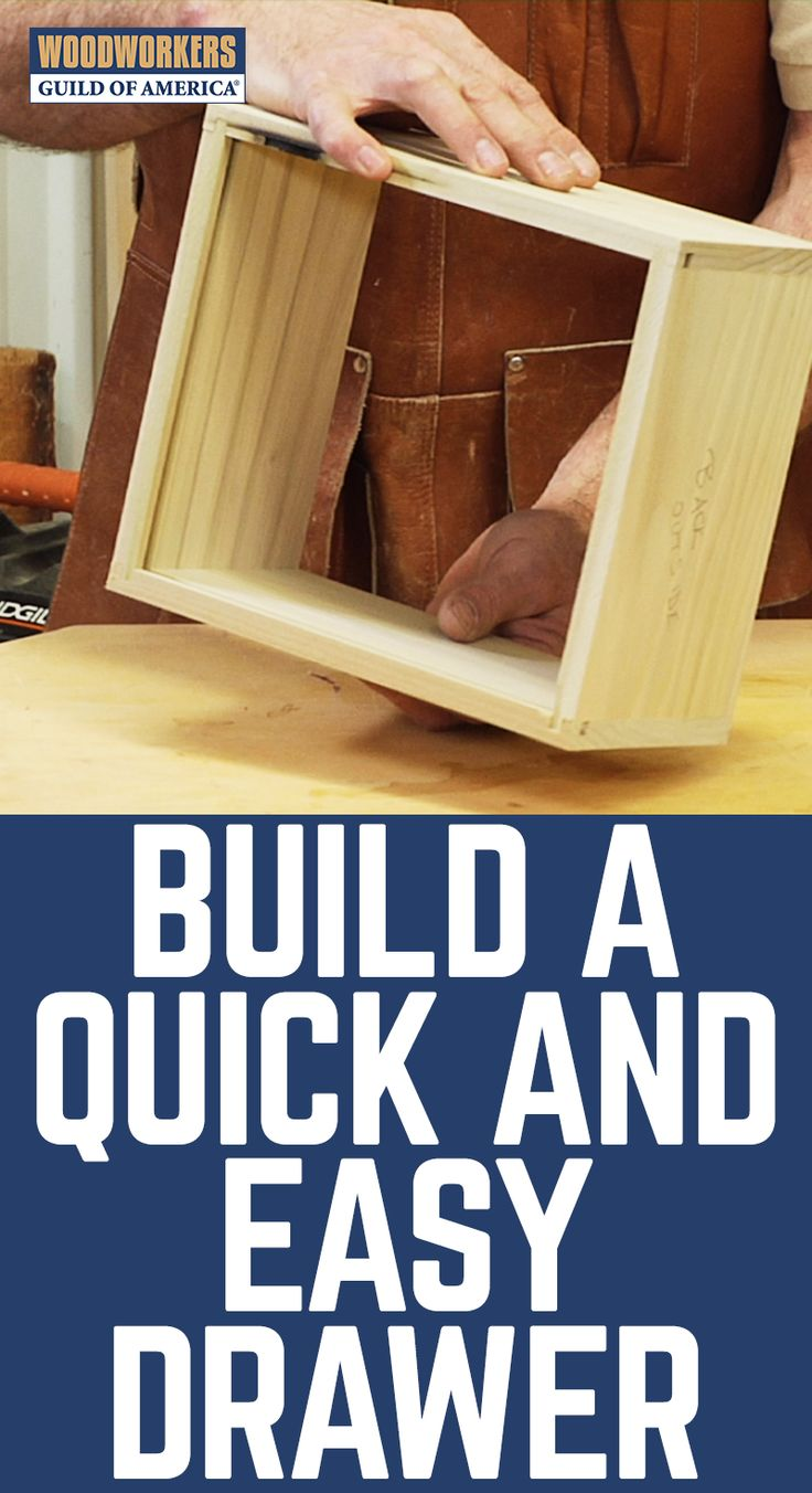 DIY Woodworking Ideas If you're looking for a fast and easy way to build rock solid drawers, we've...