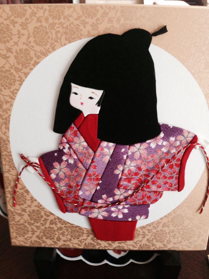 Картинки аппликации из ткани японские