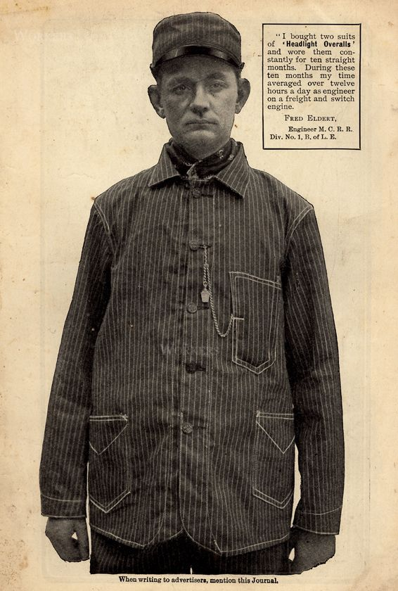 LARNED,CARTER (HEADLIGHT), 1904, work clothes for train engineers