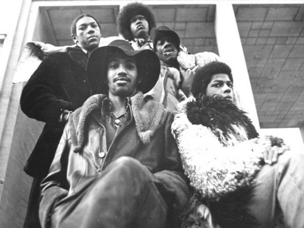 "Billy ""Bass"" Nelson, with a toothpick in his mouth, is pictured with fellow Parliament-Funkadelic members (from left, with hat) drummer Tiki Fulwood, guitarist Tawl Ross, keyboardist Bernie Worrell and guitarist Eddie Hazel in this 1971 photo. Born in Plainfield on Jan. 28, 1951, Nelson was the original bass player in the group; allmusic.com notes that he met band founder George Clinton at a Plainfield barbershop Clinton ran. Nelson left the group shortly after this photo was taken and…"