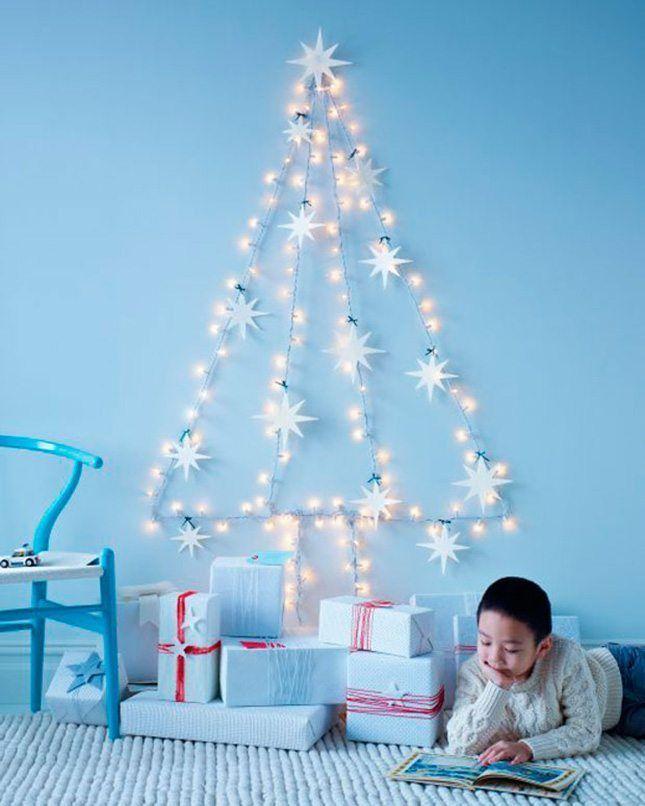 DIY - arbol de navidad con luces