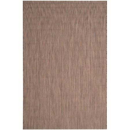 Safavieh Courtyard 5'3 inch X 7'7 inch Power Loomed Area Rug in Brown and Beige