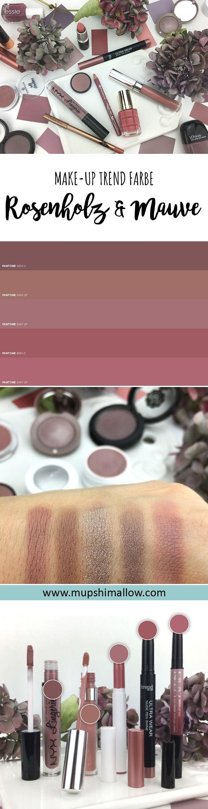 Make up in den Farben Rosenholz und Mauve ist der Trend schlechthin. Klickt hier für verschiedene Produkt Vorstellungen in der Farbe Rosenholz, Mauve und Taupe. Vom Lippenstift über Nagellack, Lidschatten bis hin zu Lipliner.
