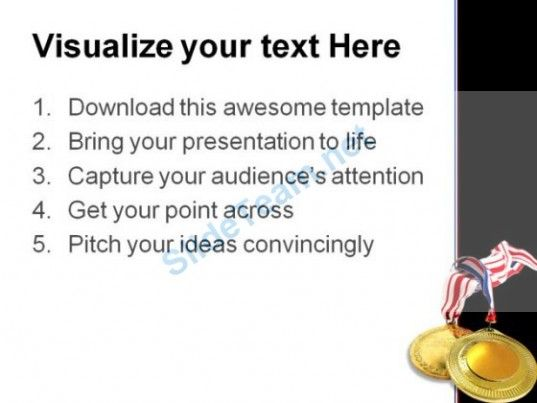 Gold Medals Sports PowerPoint Template 0610  Presentation Themes and Graphics Slide03