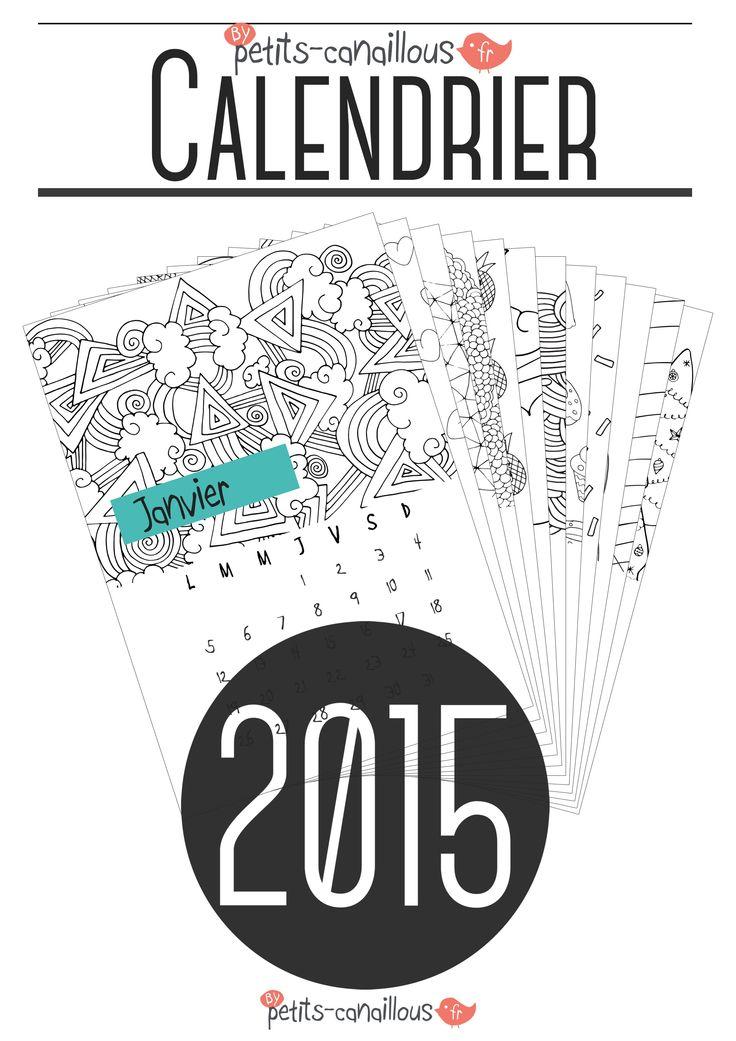 Superbe calendrier 2015 gratuit à imprimer