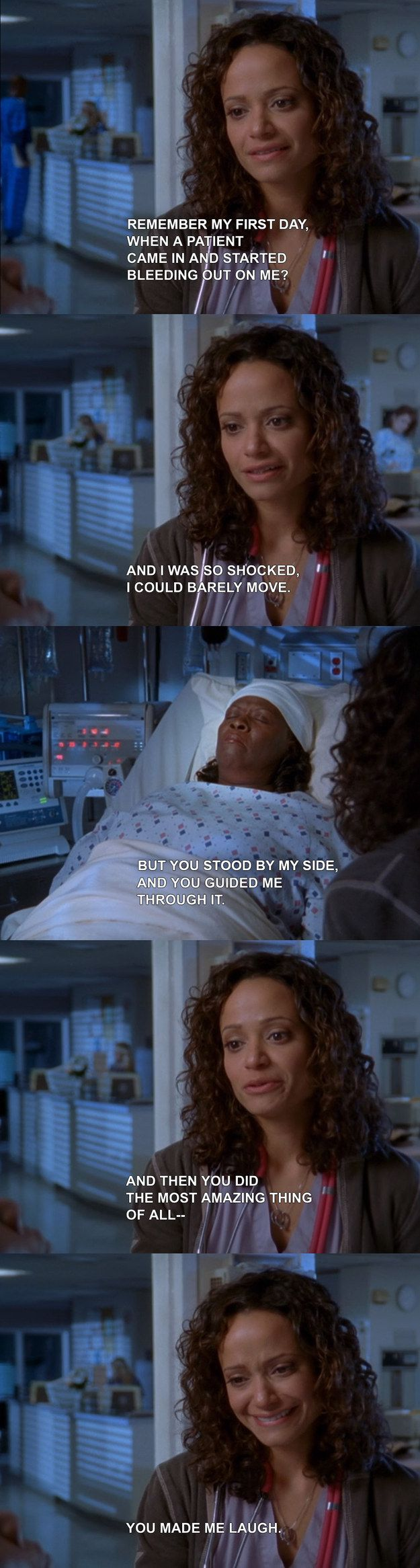 """When Carla said goodbye to Laverne. 