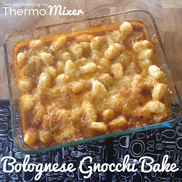 Bolognese Gnocchi Bake - The Road to Loving My Thermo Mixer