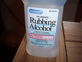 Keep a bottle of Rubbing Alcohol handy. This discovery has changed the way I feel about my carpets. I really don't like spots on my carpet, and so I was really excited when a friend suggested trying rubbing alcohol. It works!!! (even on pet stains!) Simply pour enough alcohol right out of the bottle to cover the stain and rub it into the carpet. It dries quickly as you're rubbing and the stain just sort of disappears!