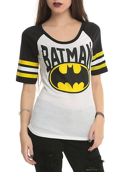Batman Girls Hockey Raglan. So getting this.