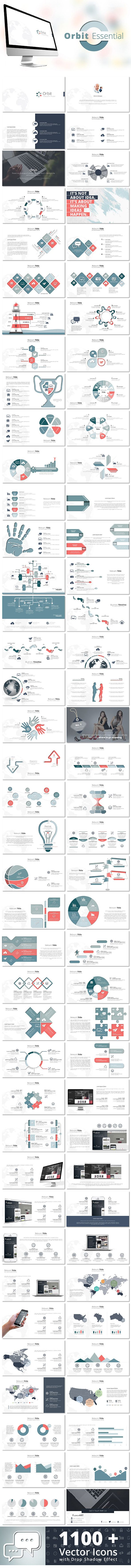 Orbit Essential Keynote Template #design #slides Download: http://graphicriver.net/item/orbit-essential-keynote-template/13233581?ref=ksioks