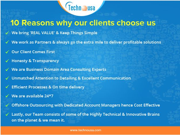 Technousa - 10 Reasons Why our clients Choose Us
