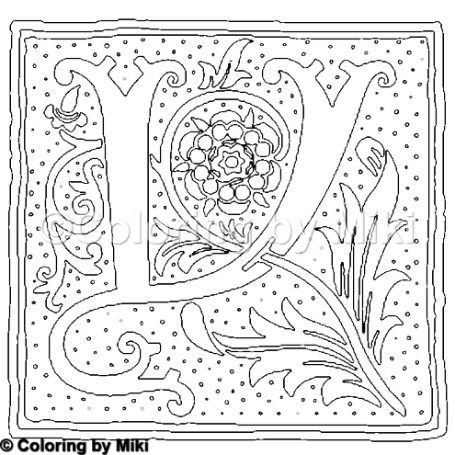 Lettering Alphabets Y Coloring Page 403 Coloring Coloringforadults