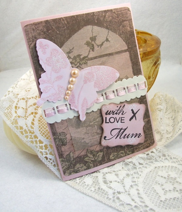 117 best art stamping mothers fathers day cards images on handmade vintage style greeting card with love mum mothers day or birthday m4hsunfo