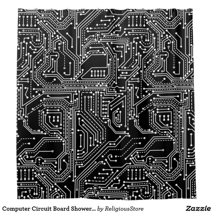 Computer Circuit Board Shower Curtain in 2020