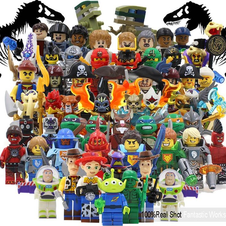 Teenage Mutant Ninja Turtles Minifigures Jurassic World Toy story Pirates of the Caribbean NEXOES KNIGHTS Models & Building Toy