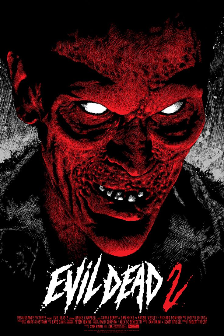 Evil Dead 2 Mondo movie poster by Elvisdead