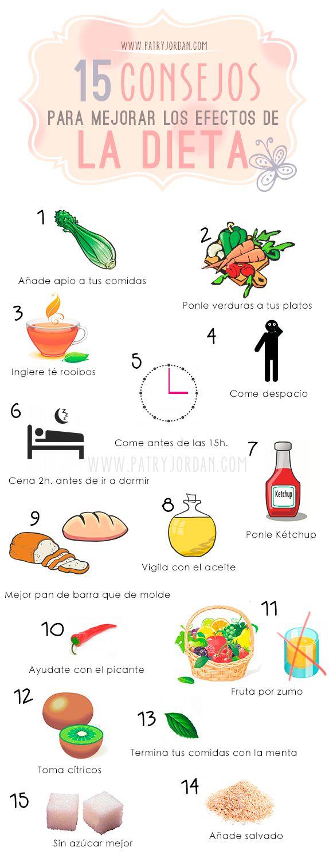 Consejos para mejorar los efectos de la dieta con alimento y hábitos