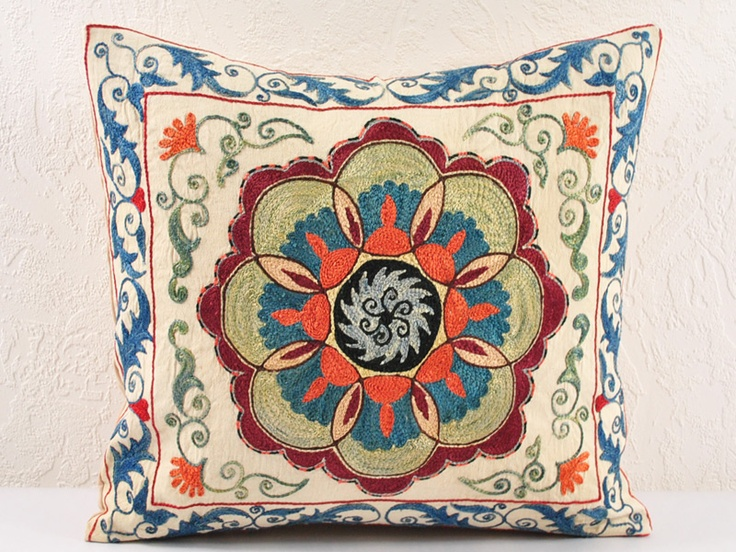 Another stunning Suzani - suzani pillow cases hand embroidered   Uzbek-Craft.Com