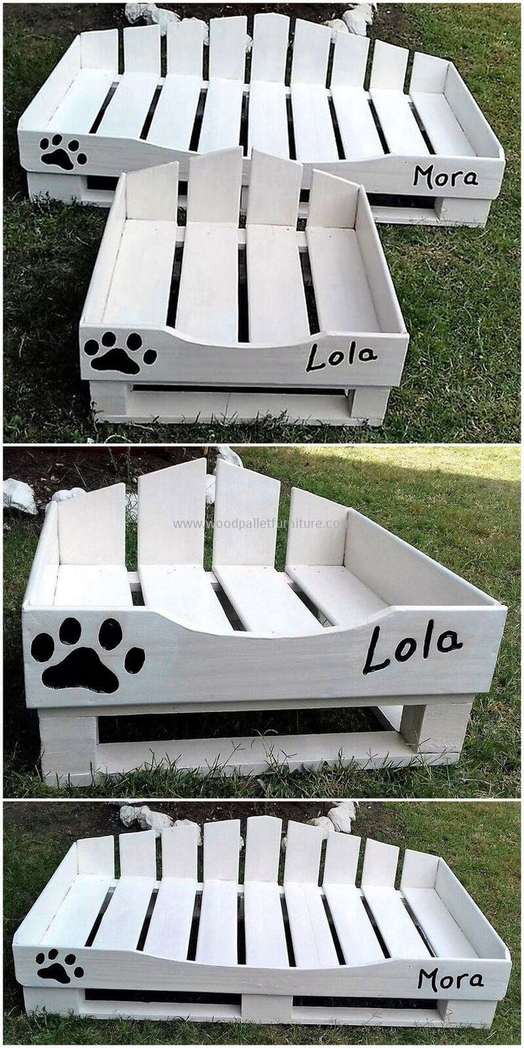 This is another wonderful and incredible wood pallets dog bed ideas that we have crafted with upcycled wood pallets. Let's provide your lovely pet something exceptional for his comfort and craft this beautiful project on your own and further decorate it with comfortable, bright color mattress.