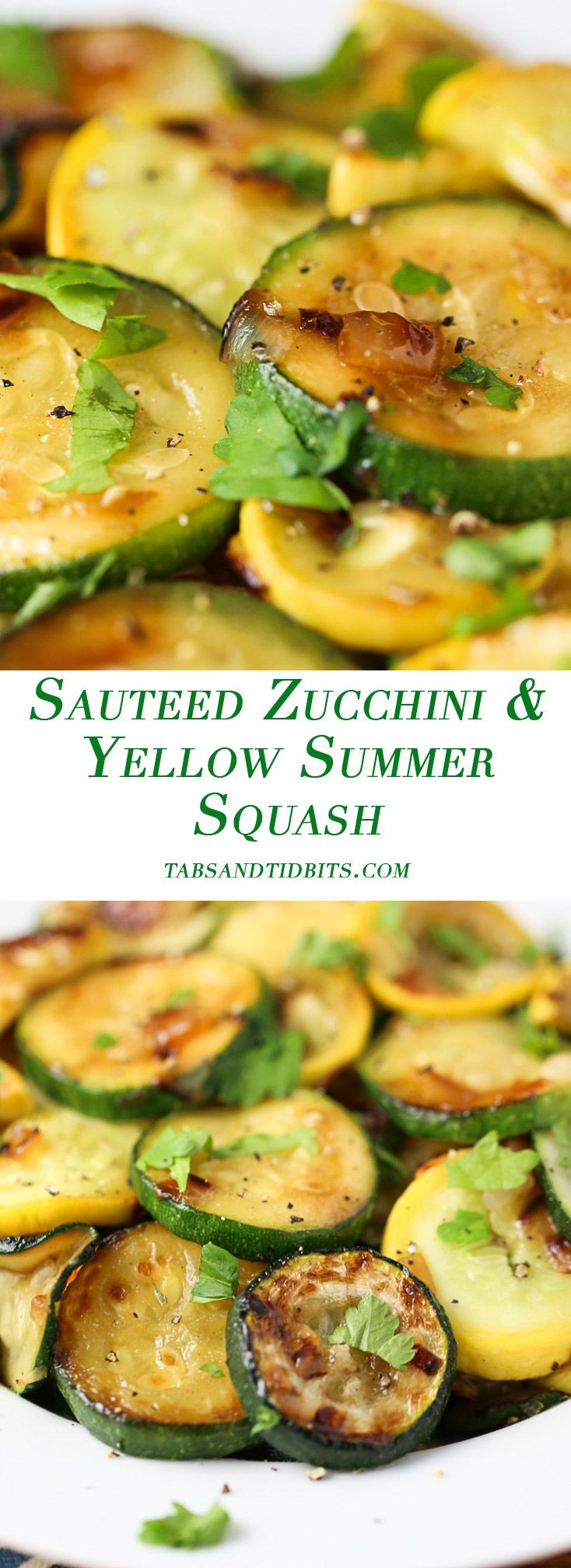 Sauteed Zucchini & Yellow Summer Squash - Sauteed squash that is full of flavor and browned texture due to salting.