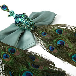 Pretty Peacock Napkin Rings for Holiday Dining. Z Gallerie $40.00 for a set of 4