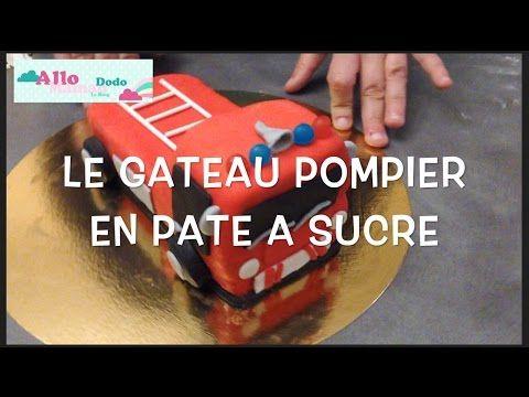 Tuto Gâteau d'Anniversaire Camion de Pompier Gateau en pâte à sucre - YouTube