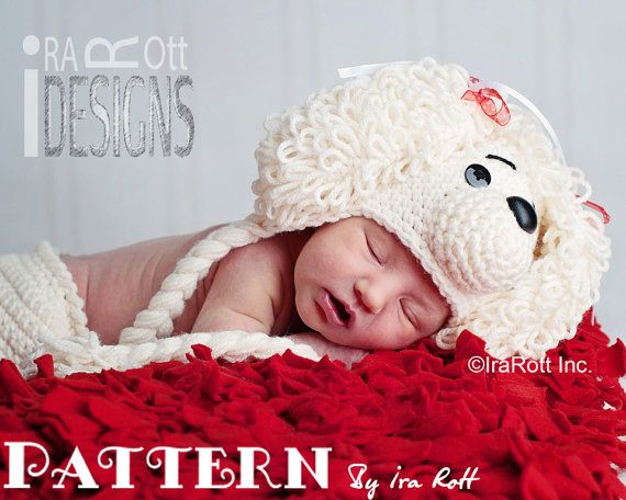 PATTERN  Loopy the Poodle Hat & Diaper Cover   by IRAROTTpatterns, $7.50