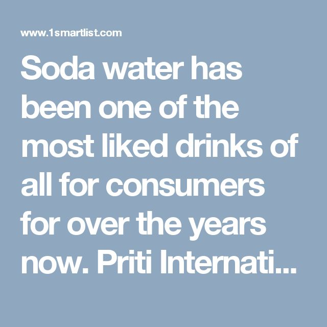 Soda water has been one of the most liked drinks of all for consumers for over the years now. Priti International has been an enterprise that has been manufacturing the finest of soda water plant machine in town.