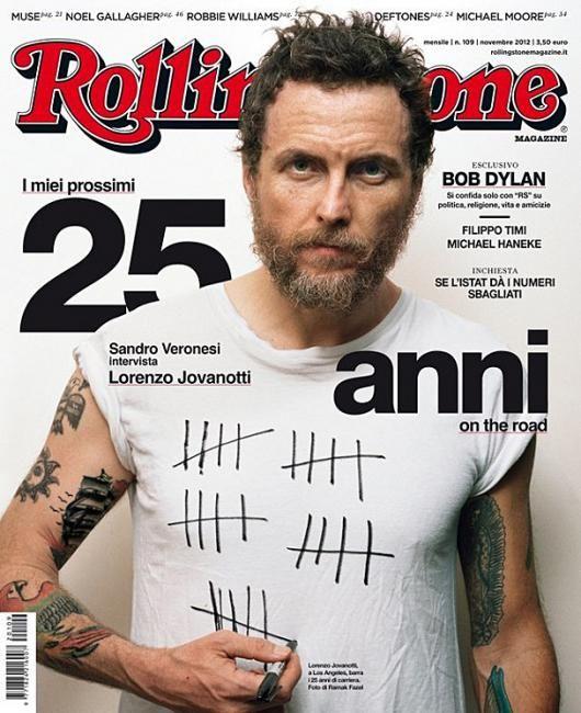 Jovanotti en la tapa de Rolling Stone (Italy)