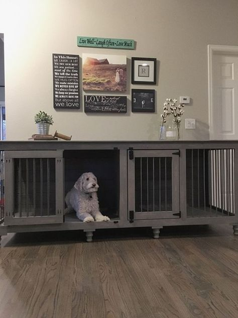 40 comfy large dog crate ideas 37 - Dog Crate Ideas