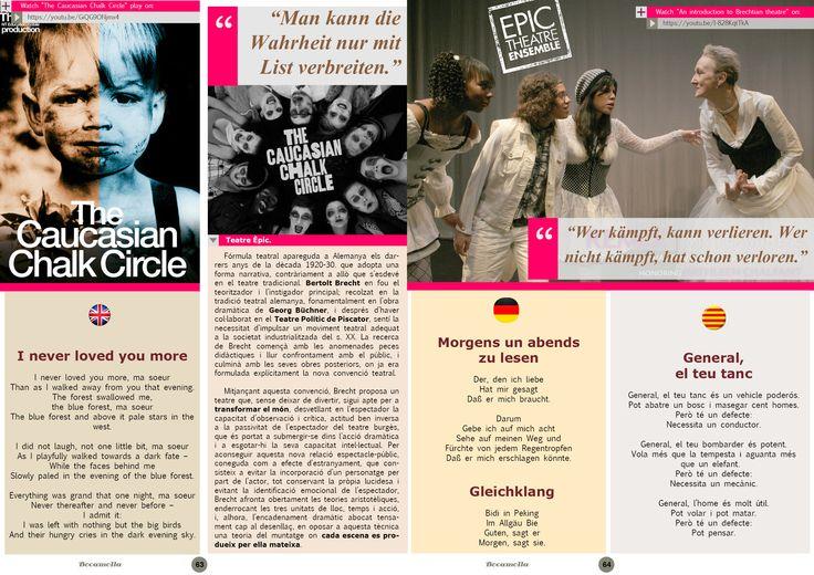Bertolt Brecht, Epic Theatre. Page 3/3. Bocamolla Issue #5.