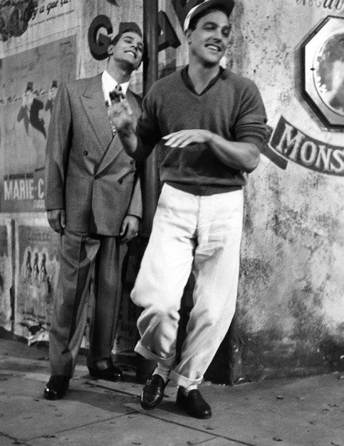 An American in Paris I believe... None other then Gene Kelly... I would have given anything to have worked on a set with him....