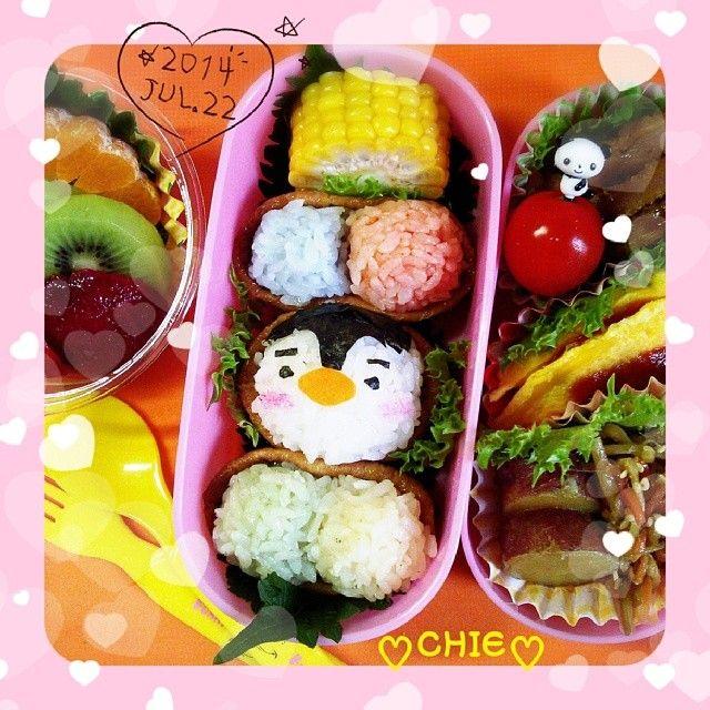 posted from @mayqoo0116 앙녕!今日はペンギン #いなり寿司 の #お弁当 ♪(^^) #bento #obento #obentoart #obentobox #lunch #lunchbox #yummy #手作り弁当…