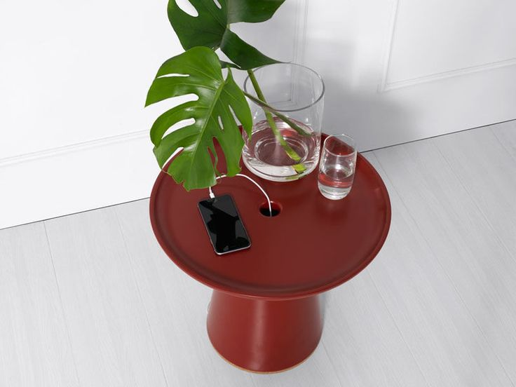 This Side Table Is Designed To Hide Your Charging Cables Within It | CONTEMPORIST
