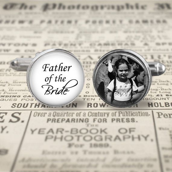 This listing is for 1 set of custom cufflinks for the Father of the Bride featuring a photo of your choice. Cufflinks are approximately 16mm