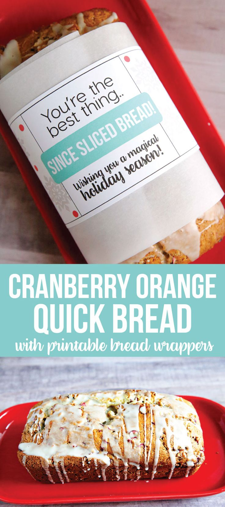 Cranberry Orange Quick Bread- an amazingly delicious bread to make and awesome for the holidays! With cute printables in partnership with Minute Maid for #doingood! AD www.thirtyhandmadedays.com