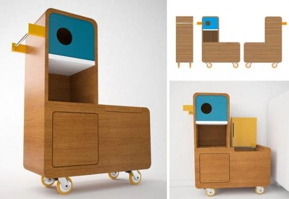 Quackie Duck Storage, Creative Wooden Toy Box design by e-glue
