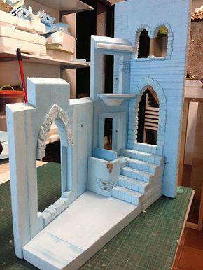 Casas con Puertas con Arco y Escaleras