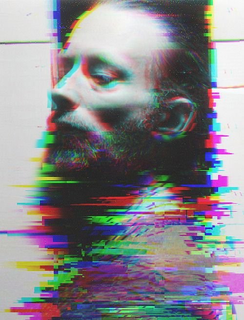 This is inpiring to me because it emerces a very traditional looking B&W portrait into the modernday visual colour of TV/PCs Thom Yorke
