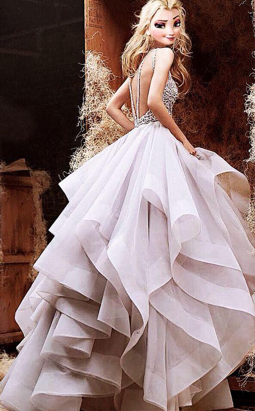 Elsa et sa belle robe