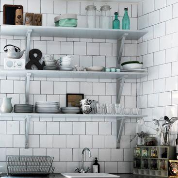 Bildresultat för vitt blankt kakel 15x15 kök