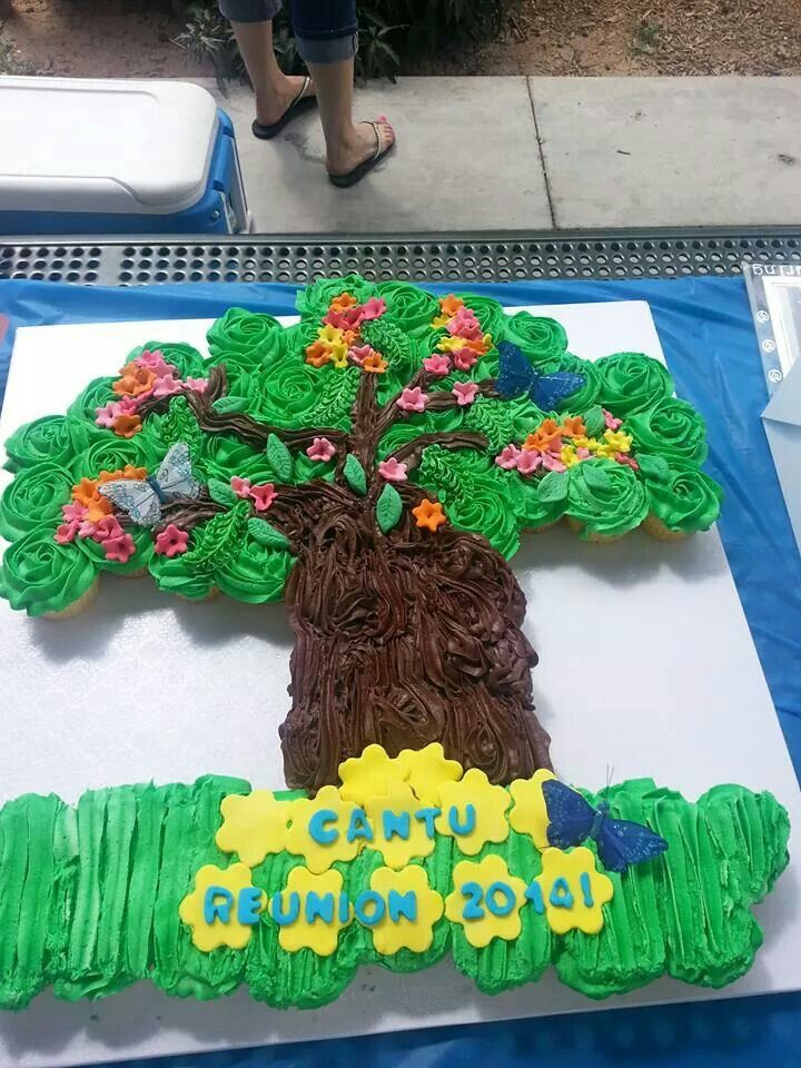 Family tree cake for our reunion♡♡♡