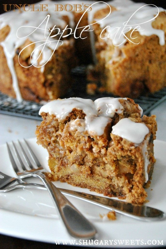 Uncle Bob's Apple Cake: this is an easy recipe and it looks amazing!!!